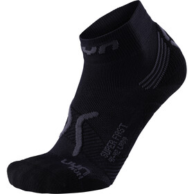 UYN Run Super Fast Chaussettes Femme, black/anthracite